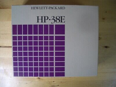 Calculadora HEWLETT PACKARD HP-38E vintage pocket calculator HP 38E - EMPTY BOX