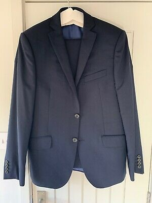 Marks and Spencer luxury collection suit - Navy 100% Wool