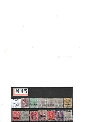 Lot Of British Commonwealth Revenue Stamps Used (P835)