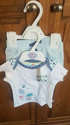 Baby Boys 2 Piece Oufit Size 3-6 Months From Marks And Spencer Brand New