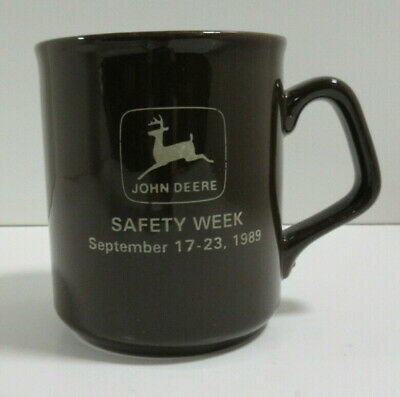 John Deere Coffee/Tea Mug (Safety Week - Sept. 17-23, 1989) Brown