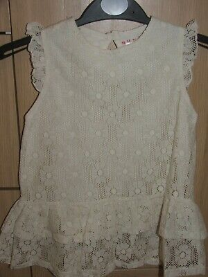 BNWOT Lace Style Material Girls Top age 6, 7, 12 & 13 years