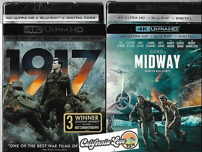 1917 + Midway 4K Ultra Hd + Blu-Ray 2-Movie 4-Disc War Combo ✔☆Mint☆✔ No Digital