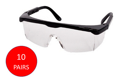 10PACK Clear Protective Lab Glasses Safety Eyewear Adjustable Goggles Anti Fog