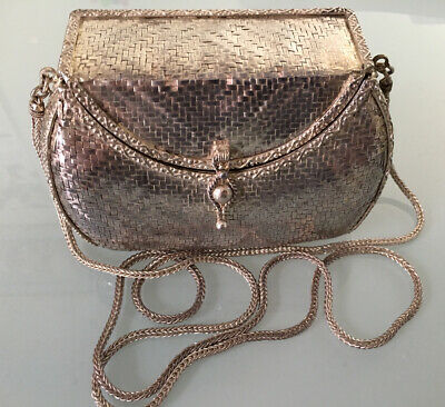 Antique Solid Sterling Silver 370g Handmade Mash Purse Museum Quality