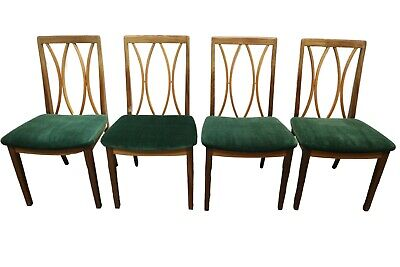 Mid Century Vintage G Plan By E Gomme - Age of Aquarius Set Of 4 Dining Chairs