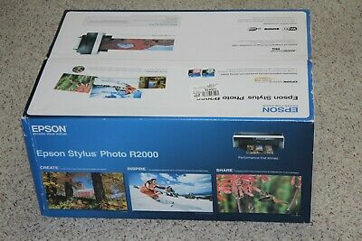 NIB Epson Stylus Photo R2000 Wireless Wide-Format Color Inkjet Printer C11CB3520