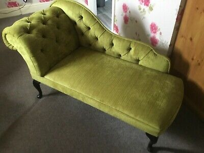 Beautiful  Velour  Chaise Longue - Lime Green