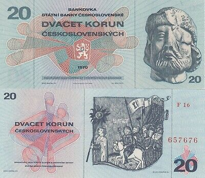 Czechoslovakia 20 Korun UNC Banknote (What you see is what you get)