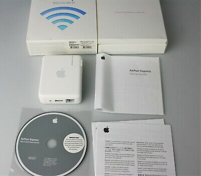 Apple Airport Express 802.11n Wi-Fi A1264 In Original Box With Software Bundle
