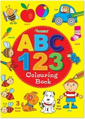 ABC 123 Colouring A4 Book Learn to Write Letters Numbers Activity Colouring Book