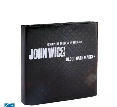 John Wick 2 Movie Replica Blood Oath Marker Set ONLY 1000 MADE OFFICIAL LICENSED