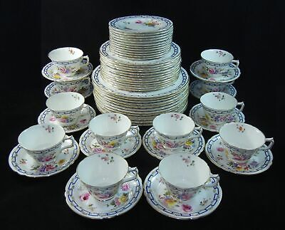 60 Piece Royal Crown Derby Spring - 5 Piece Place Setting 12 Sets   h297