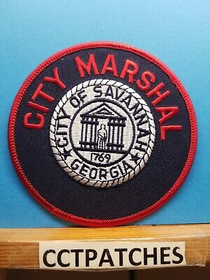 PATCH POLICE CITY OF SAVANNAH GEORGIA OLDER CRUDELY MADE
