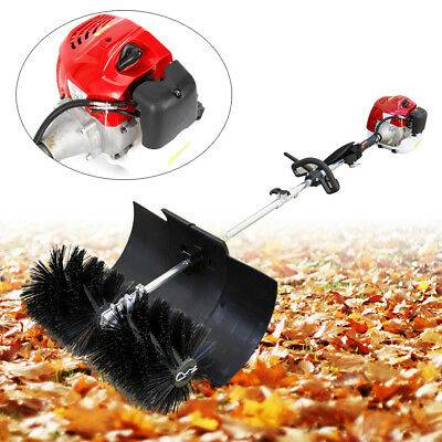 52CC GAS POWER HAND HELD CLEANING SWEEPER BROOM DRIVEWAY TURF Nylon Brush Best