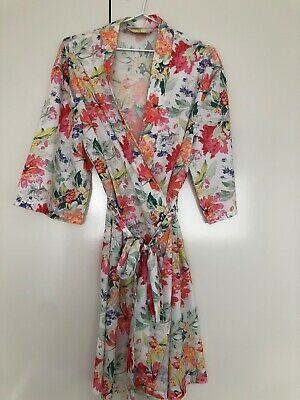 Le Rose Robe Kimono - Size S/M - Floral - Wedding Bridesmaid