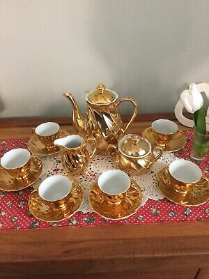 Gold Tea Set Avondale,22ct Gold Plated Mix