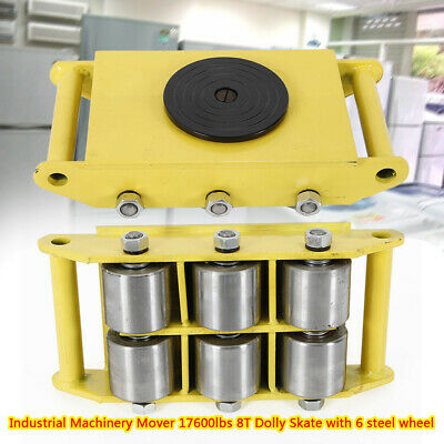 Durable Machinery Mover Dolly Skate Roller Move 360° Rotation 8 Ton 17600lb New