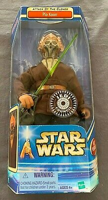 "Hasbro Star Wars Attack Of The Clones ""Plo Koon"" Jedi Council 12"" Action Figure"