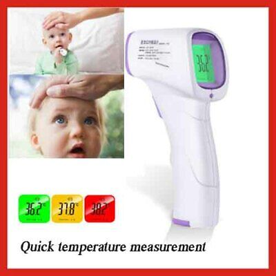 Infrared Digital Forehead Fever Thermometer Non-Contact Baby Adult Child Body US