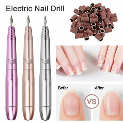 Electric Nail File Art Nail Drill Acrylic Manicure Pedicure Portable Machine Kit