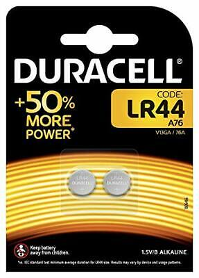Duracell Specialty LR44 Alkaline Button Battery 15V pack of 2 76A / A76 / V13GA