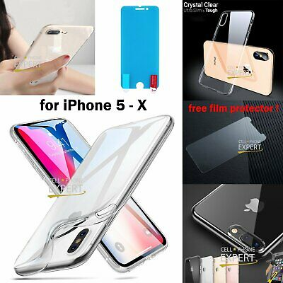 Ultra Clear Thin Slim Soft Gel Case Cover For iPhone 11 Pro Max XS XR X 8 7 Plus
