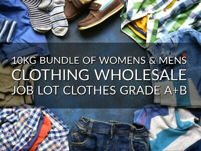 10KG Bundle Of Womens & Mens Clothing Wholesale Job Lot Clothes Grade A+B
