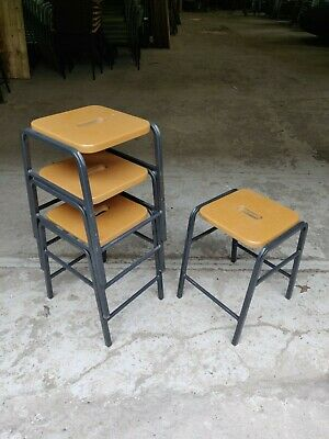 Vintage Stacking School Lab Stools - Cafe Bar Restaurant - 25 Available
