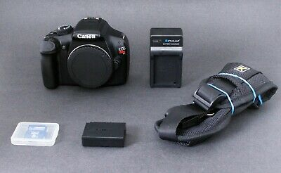 Canon EOS Rebel T3 12.2MP DSLR Camera, Black (Body Only) Tested, Clean, Free Shi