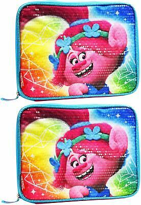 Set of 2 Poppy Trolls Thermos Lunch Boxes - PVC Free - AntiMicrobial - Easy