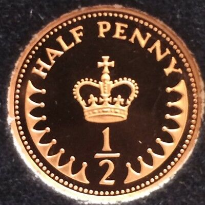 1983 PROOF 1/2p coin Halfpence. From a Set Halfpenny