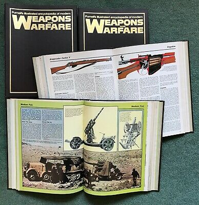 Purnell's Illustrated Encyclopedia of Modern WEAPONS AND WARFARE 1st 4 volumes
