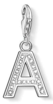 """RRP: $79.00 Thomas Sabo Charm: Letter """"A"""" (Made from 925 Sterling Silver)"""