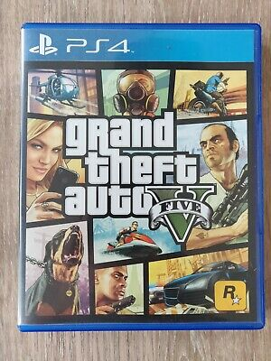 Grand Theft Auto V [GTA 5] PS4, Great Condition, Includes Giant Game Map