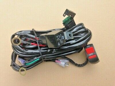 Motorcycle Universal Wiring Harness Ktt /& Switch Set For Fog Light Driving Lamp