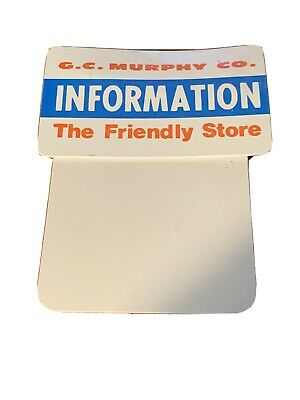 GC Murphy Co Stores Name Tag Information Blank