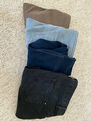 Asos Newlook Maternity Trousers Jeans Size 8, Four Pairs