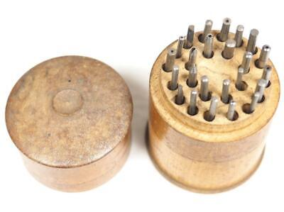 Vintage Clockmakers Staking Set 24 Stakes With Box Clockmakers Tool