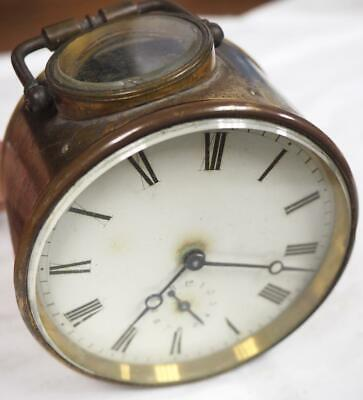 French 8 Day Mantel Clock Movement Hands Dial Case Good Spares Or Repair