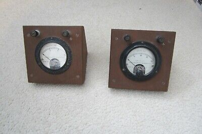 Vintage Weston Educational Ammeter And Voltmeter Set