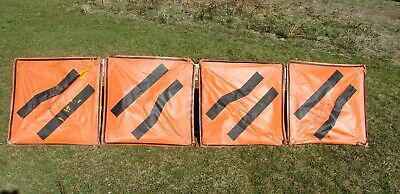 MERGE Left, Right, LOT 4 Roll up VINYL SIGNS, w/ Ribs
