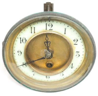 Timepiece French 8 Day Mantel Clock Movement Hands Dial Good Spares Or Repair