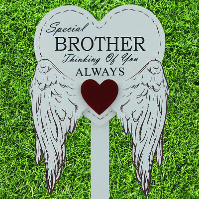 Special Brother Graveside Memorial Angel WIngs Tribute Grave Stick Marker 76160