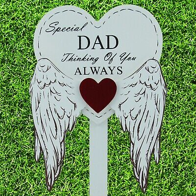 Special Dad Graveside Memorial Angel WIngs Tribute Grave Stick Marker 76161