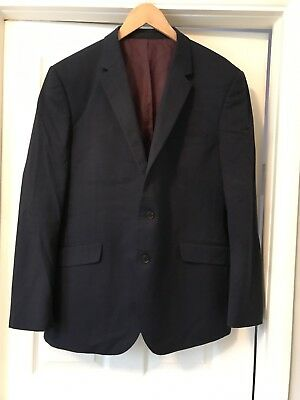 Men's Marks And Spencer Collection Tailored Fit Navy Suit Jacket Navy Blue 46inc