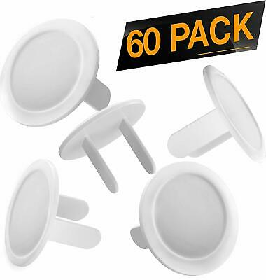 Outlet Plug Baby Safety Covers - 60 Pack - Protect Little Kids from Electrical