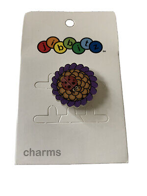 New Lenticular Ladybug flower JIBBIT FOR CROCS SHOES CHARM CRAFTS COLLECTIBLE