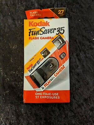 Vintage Kodak FunSaver 35mm Single Use Film Camera NOS Flash Color exp 10/2003