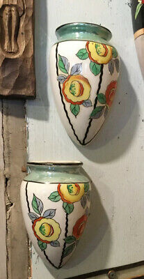 Pair Of Vintage Trico Wall Pockets